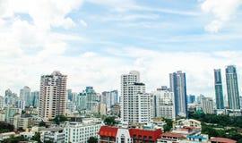 Panorama view of  urban bangkok city Stock Photography