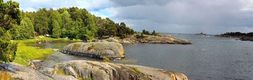 Panorama view in Uto island (Sweden) Royalty Free Stock Image