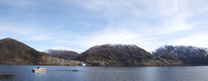 Panorama view of Vaksdal, Norway Royalty Free Stock Photo