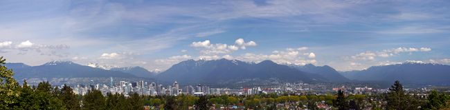 Panorama view of Vancouver Stock Image