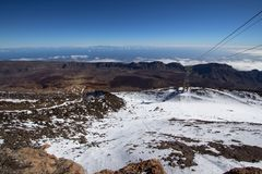 Panorama view from volcano Teide on Tenerife, Spain Royalty Free Stock Image