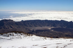 Panorama view from volcano Teide on Tenerife, Spain Royalty Free Stock Photography
