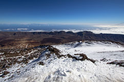 Panorama view from volcano Teide on Tenerife, Spain Royalty Free Stock Photo