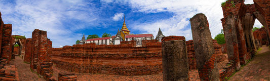 Panorama view of Wat Nakornluang Stock Photography