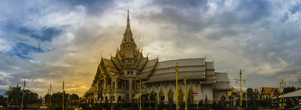 Panorama view of Wat Sothonwararam, a famous public temple in Ch Stock Photo