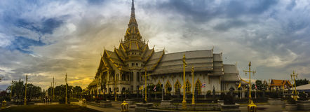 Panorama view of Wat Sothonwararam, a famous public temple in Ch Royalty Free Stock Photos