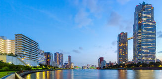 Panorama view of waterfront Tokyo city Stock Image