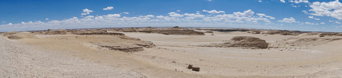 A panorama view of weathered landform Royalty Free Stock Photos