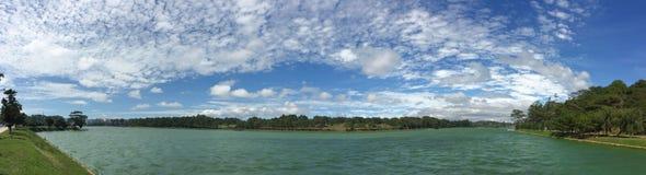 Panorama view of Xuan Huong lake, Dalat, Vietnam Stock Photos