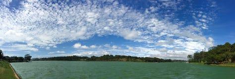 Panorama view of Xuan Huong lake, Dalat, Vietnam Stock Images
