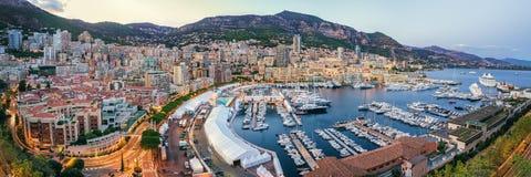 Panorama of Monaco Port Royalty Free Stock Image