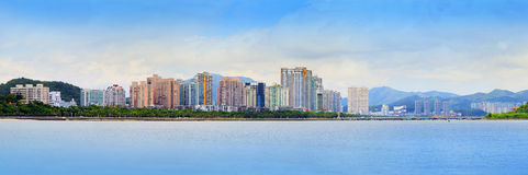 Panorama view of zhuhai city in southern of china new economic c Royalty Free Stock Photos