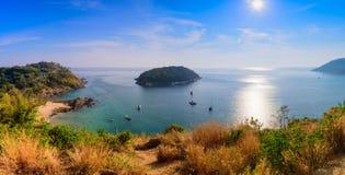 Panorama viewpoint andaman sea in Phuket Stock Photography
