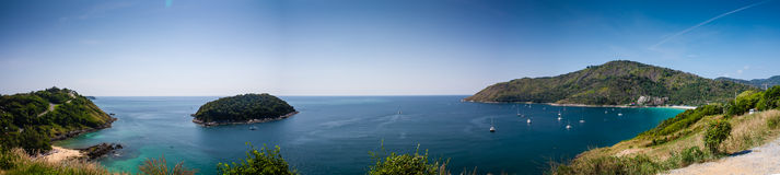 Panorama from viewpoint Phuket Stock Photos