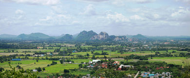 Panorama Viewpoint at Ratchaburi Thailand. Ratchaburi (often shortened Rat'buri, Thai: ราชบุรี (Pronunciation)) is one of the central provinces ( Stock Image