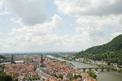 Panorama views of heidelberg cityscape in Germany Royalty Free Stock Photos