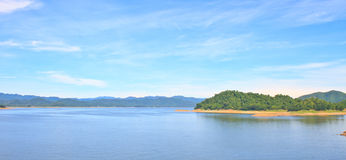 Panorama Views over the reservoir Kaengkrachan dam Royalty Free Stock Photos