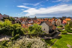 Panorama of Vik in Gotland, Sweden Stock Images