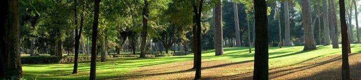 Panorama of Villa Borgese Stock Photo