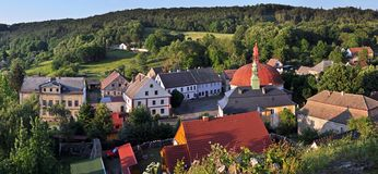 Panorama of Village Stock Photography