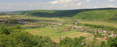 Panorama of the village Stock Photography