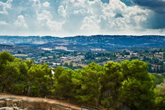 Panorama of the village Stock Image