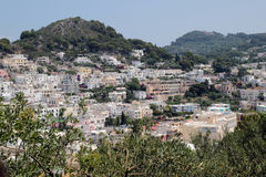 Panorama of the village of Anacapri, Italy Royalty Free Stock Photo