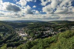 Panorama of the village of Eppstein Stock Photos
