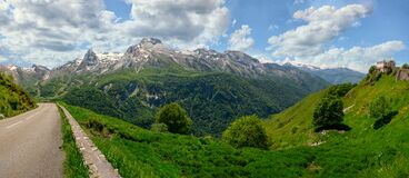 Panorama of the village of Gourette in the French Pyrenees