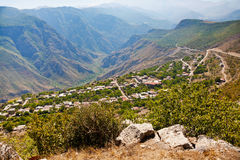 Panorama of village Halidzor in Armenia Stock Photo