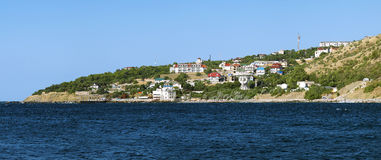 Panorama of the village Katsiveli in Crimea Stock Images
