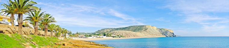 Panorama from the village Luz Portugal Royalty Free Stock Images