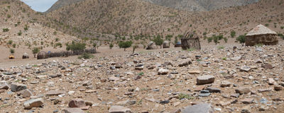 Panorama of a village in Namibia Royalty Free Stock Photo