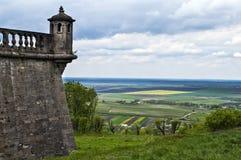 Panorama village of Pidhirtsi castle,Lviv region. Ukraine Royalty Free Stock Photos