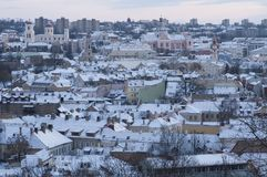 Panorama of Vilnius Stock Photography