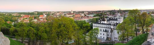 Panorama Vilnius Stock Photo