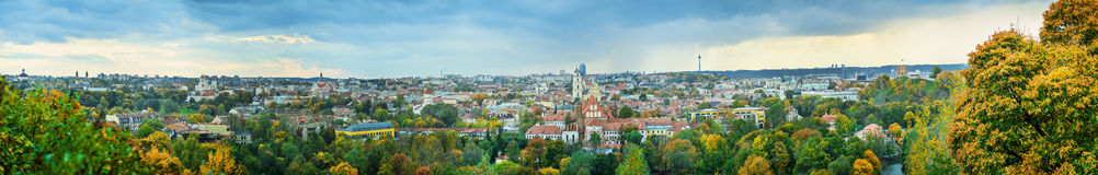 Panorama of Vilnius. Cityscape, Lithuania. 56MP Royalty Free Stock Images