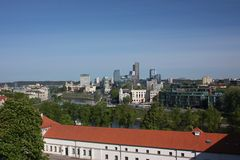 Panorama of Vilnius from the Castle Hill Royalty Free Stock Image
