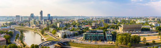 Panorama of Vilnius - Lithuania Stock Photos