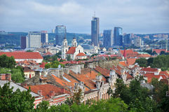 Panorama of Vilnius, Lithuania Stock Images