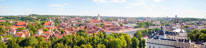 Panorama of Vilnius in the summer, Lithuania Stock Photo