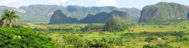 Panorama of Vinales valley Royalty Free Stock Images