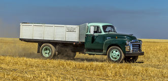 Panorama of vintage farm truck. Stock Images