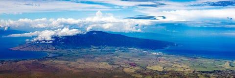 Panorama visivamente sbalorditivo di alto-vista di Maui Fotografia Stock