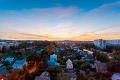Panorama, vista aerea della città Mosca ad estate Immagini Stock