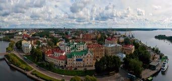Panorama Vista da cidade de Vyborg Região de Leninegrado Rússia imagens de stock royalty free