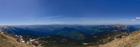 panorama vista della montagna di Goverla dall'ampia immagini stock libere da diritti