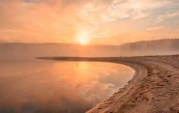 Panorama, vista horizontal da baía rochoso, litoral da areia, o Mar Negro Fotografia de Stock