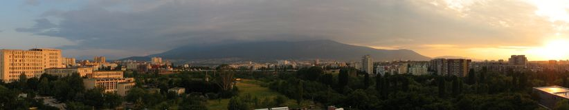 Panorama of Vitosha Mountain Royalty Free Stock Photo