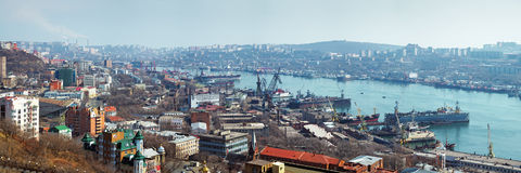 Panorama of Vladivostok Stock Image
